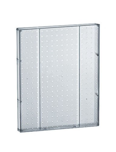 Count of 2 New Clear Molded Plastic 16'' Width x 20'' High Pegboard Wall Panels by Pegboard