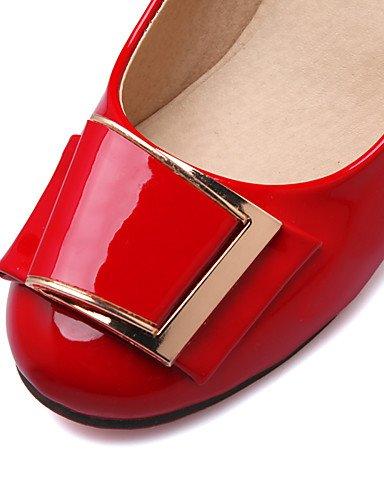 5 US6 delle di 5 di O Rosso Ufficio donne oto Comfort EU36 UK7 primavera Carrera UK4 Nero CN38 scarpe rotonda 10 ZQ Le punta di talloni US9 CN42 vernice EU41 talloni amp; 8 AvqFSwZRx