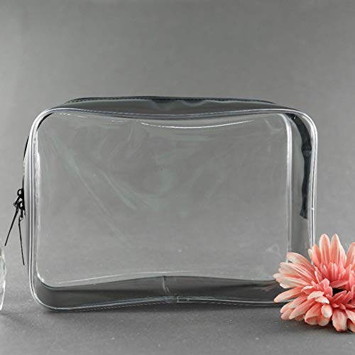 Waterproof PVC Zip Pouch Kit Transparent Clear Travel Cosmetic Wash Bag Storage (Sac Furla)