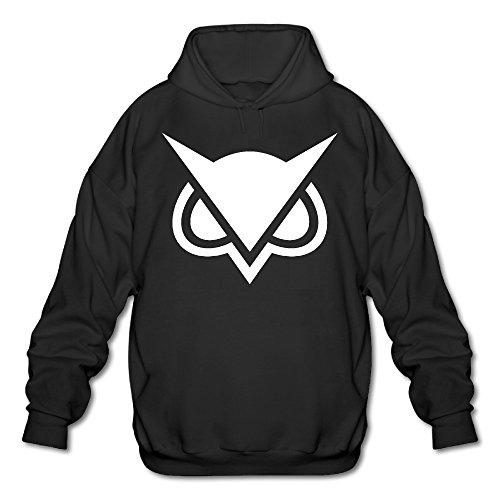 PHOEB Mens Sportswear Drawstring Hooded Sweatshirt,video Game Commentator Black Large
