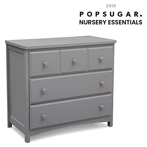 Delta Children 3 Drawer Dresser, Grey from Delta Children