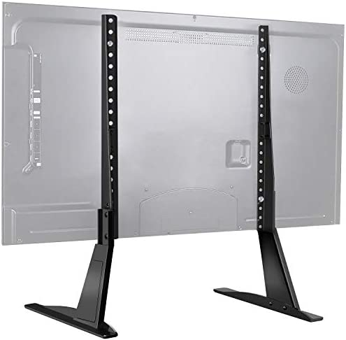 PERLESMITH Universal Table Top TV Stand for 22-65 Inch Flat Screen, LCD TVs Premium Height Adjustable Leg Stand Holds up to 110lbs, VESA up to 800x500mm, black (PSTVS01)