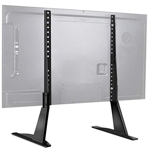 PERLESMITH Universal Table Top TV Stand for 22 - 70 Inch Flat Screen, LCD TVs Premium Height Adjustable Leg Stand Holds up to 110lbs, VESA up to 800x400mm