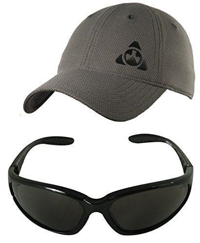 Magpul Core Cover Tactical Mesh Ballcap Hat Cap MAG729 Stealth Grey Gray, Large/XL X-Large + Ultimate Arms Gear Black Lens Military Sunglasses Eyeglass Shooting - Uv Logo Sunglasses 400 Custom With