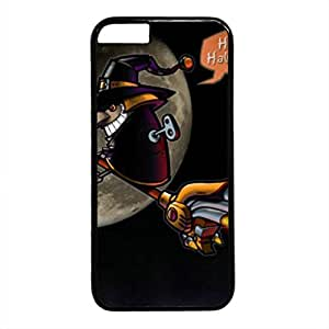 E-luckiycase PC Hard Shell Happy Halloween Black Skin Edges for Iphone 6 Case hjbrhga1544