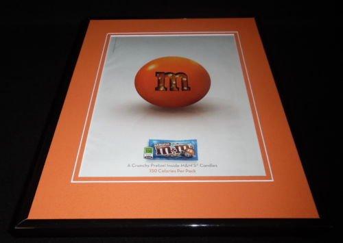 2010 Pretzel M&M's Framed 11x14 ORIGINAL Advertisement