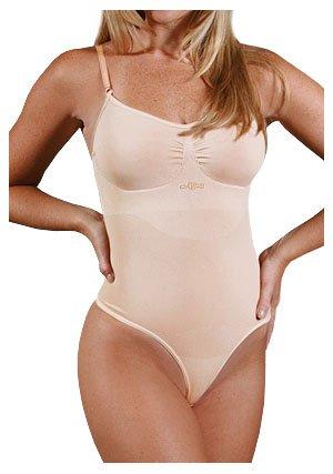 N-Fini Women's Plus Lycra Cami Bodysuit Shapewear Wire Fr...