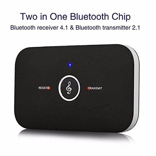 2 in 1 Bluetooth Wireless Audio Receiver Portable Transmitter with Built in battery
