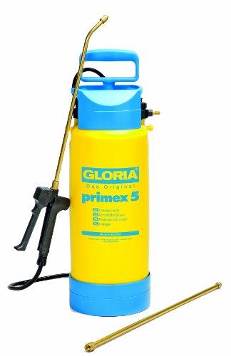 Gloria Drucksprüher Drucksprühgerät 5Liter mit Messing-Verlängerungsrohr Primex, gelb