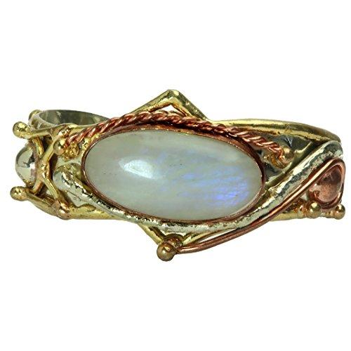 SatinCrystals Moonstone Rainbow Bracelet 5.5-6.5