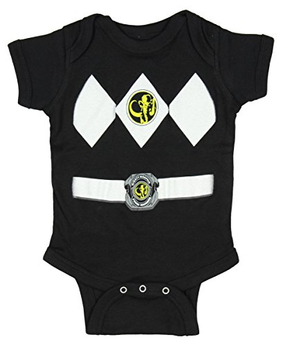 Power Rangers Black Baby Ranger Costume Romper(0-6 Months) (Power Ranger Black Costume)