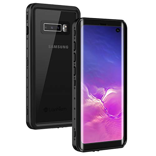 Lanhiem Galaxy S10 Case, [Compatible with Fingerprint ID] IP68 Waterproof Dustproof Shockproof Case with Built-in Screen Protector, Full Body Sealed Underwater Protective Cover for Samsung Galaxy -