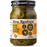 Mrs. Renfro's Nacho Sliced Jalapeno Peppers, Gluten Free, No Added Sugar, 16 oz Jar, Pack of 4