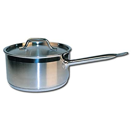 Winware Stainless Steel 2 Quart Sauce Pan with Cover Winco USA SSSP-2