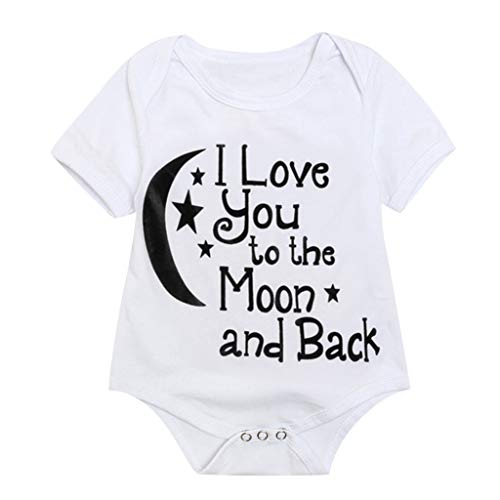 Toddler Kids Letter Print Tops Bodysuit - Romper Sunsuit Baby Girl Boy Clothes,2019 New by SUNSEE WOMEN'S CLOTHES PROMOTION (Image #3)