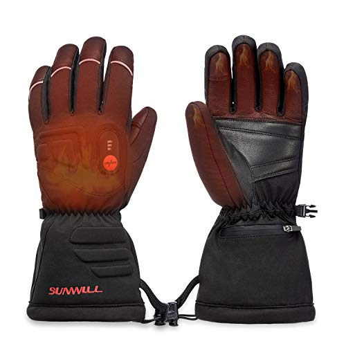 Heated Gloves Electric Hand Warmer with Rechargeable Powered Li-ion Battery up to 6 Hours, Snow Winter Warm for Outdoor Cycling, Motorcycle, Hiking, Snowboarding, Battery for Men and Women (XS)