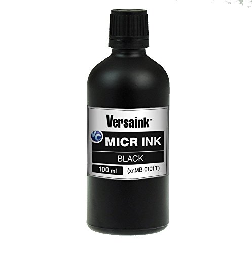 VersaInk VIMB1S-6512 Black MICR Ink 100ml - Magnetic Ink for Inkjet Printers Ink by VersaInk