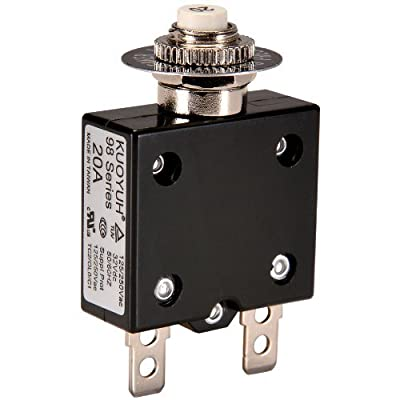 """NTE Electronics R58-20A Series R58 Thermal Circuit Breaker, 250"""" Quick Connect Terminal, 0.006 Ohms Resistance, 20 Amp"""