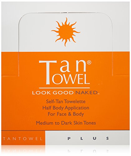 Tan Towel Self Tan Towelette Plus, 50 Count (Tan Body Towels)