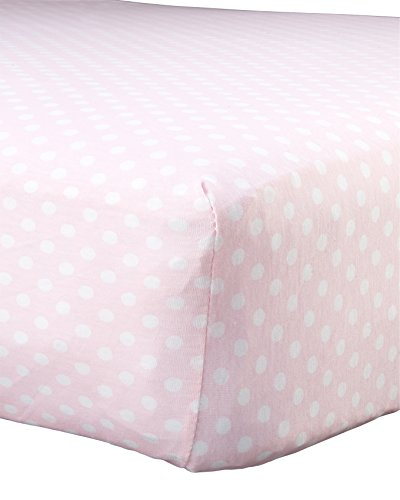 Abstract Baby Polka Dot Print Extra Deep Fitted Jersey Crib Sheet (28
