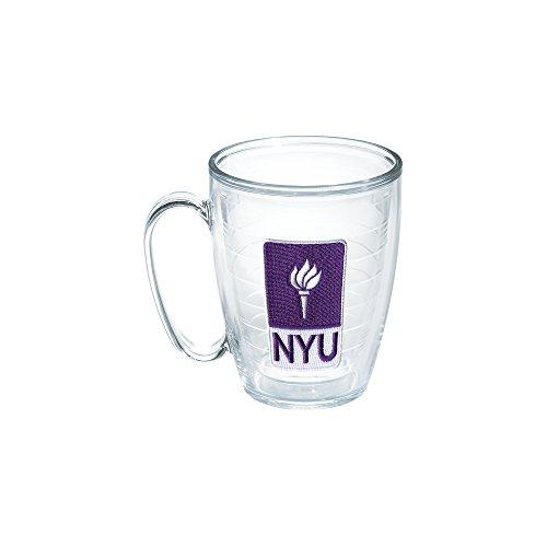 - Tervis 1050335 New York University Emblem Individual Mug, 16 oz, Clear