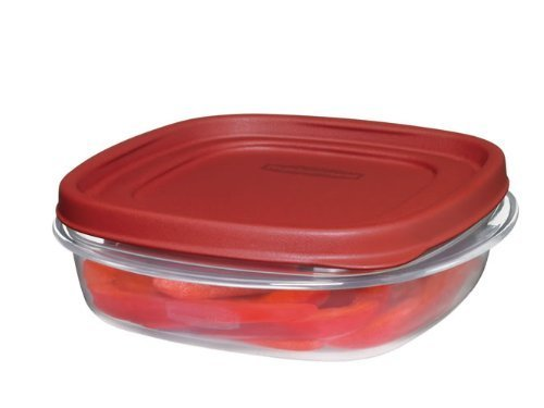 Rubbermaid 711717427300 Easy Find Lids Square 3-Cup Food Storage Container (Pack of 6), 6 Pack, Clear by Rubbermaid