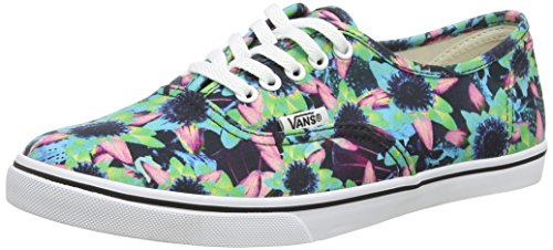 Vans Authentic Lo Pro (Floral Mix) Black/ Turquoise Size Mens 9.5