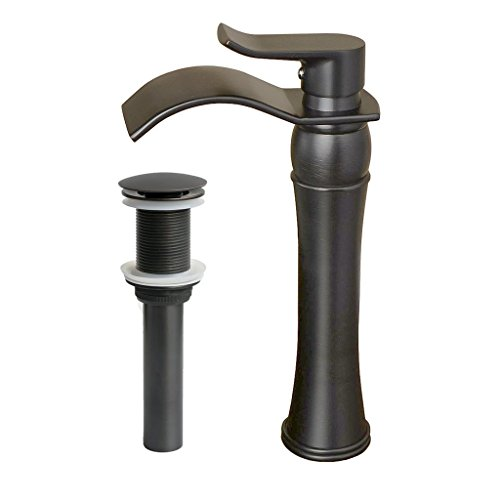 30%OFF iFaucet Oil Rubbed Bronze Waterfall Bathroom Sink Faucet ORB Vessel Faucet Centerset Widespread Modern ORB Two Handle Single Hole Faucets Unique Designer Sprayer Lavatory Faucets Plumbing Fixtures Tub Shower Mixer Taps Supply