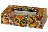 Talavera Tissue Box Cover - 11'' x 6'' x 3''
