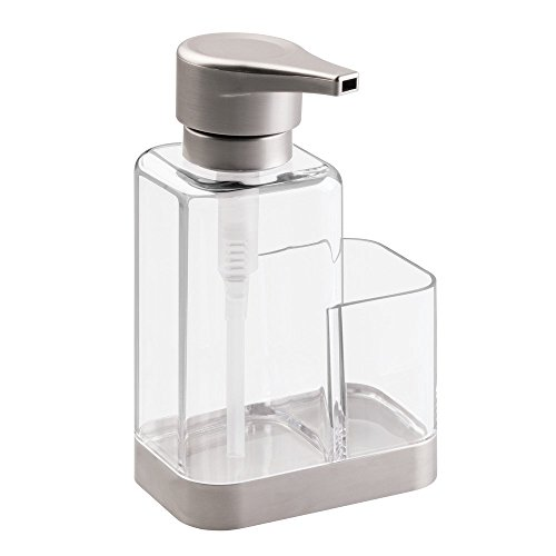 InterDesign Bruschia Foaming Soap Dispenser with Sponge and