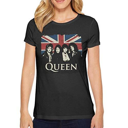 Rock Ladies T-shirt - Naicissism Women's t Shirts Casual Music Short Sleeve Cotton tee Shirts