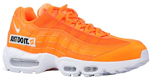 Nike Men's Air Max 95 SE Total Orange/White/Black AV6246-800 (Size: 6.5) (Nike Air Max 95 Black And White)