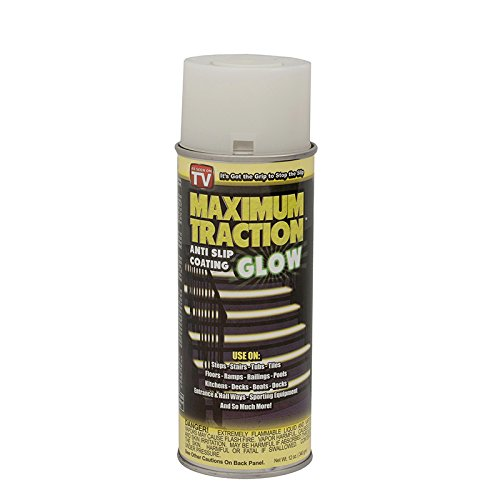 Maximum Traction Glow Anti-Slip Coating Spray for Wet or Slick Surfaces (Glows in the Dark!) by Maximum Traction