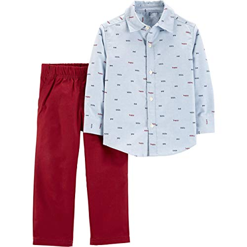 - Carter's Baby Boys' 2 Pc Playwear Sets 229g270 (4T, Happy/Blue/Red)