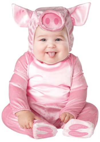 InCharacter Costumes Baby's This Lil' Piggy Costume, Pink, Small by Fun World