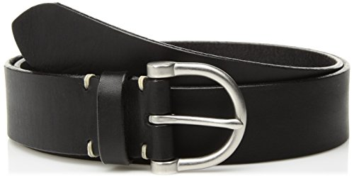 Italian Made Black Leather (Circa Women's Handcrafted Italian Tumbled Leather Belt, Black,XL)
