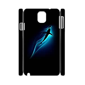 3D Samsung Galaxy Note 3 Case,Sharks Ocean Depth Light Hard Shell Back Case for White Samsung Galaxy Note 3