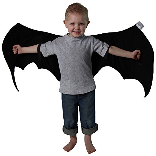 Kids Black Bat Costume and Pretend Play Wings