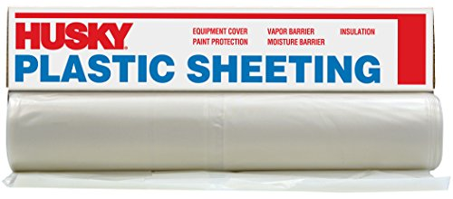 Husky CF0420-50C 4 ML Tyco Polyethylene Opaque Plastic Sheeting, 20' x 50', Clear