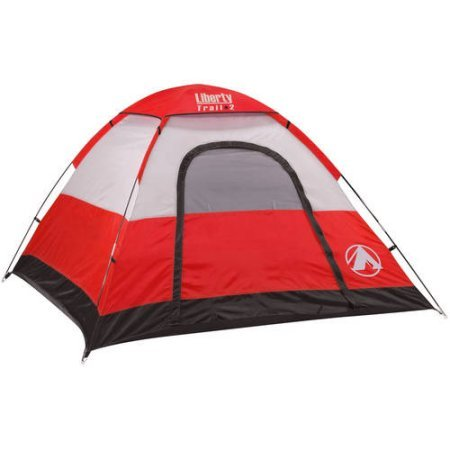 Liberty Trail 2 7' x 7' Dome Tent, Sleeps 3 - Red