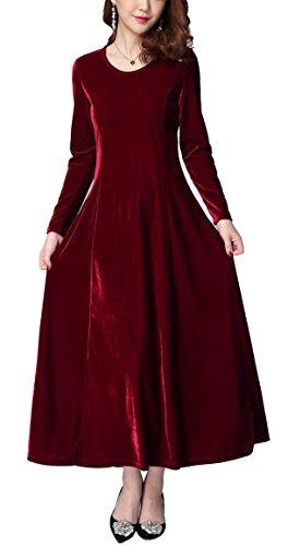 Velvet Gown Dress - 3