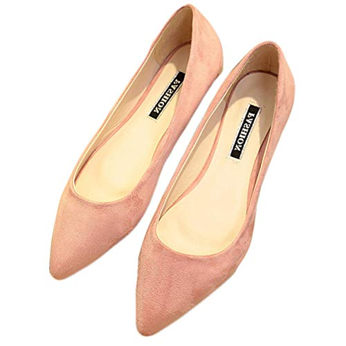 Women Flats, Fashion Mixed Colors Pointy Toe Ballerina Ballet Slip On Shoes