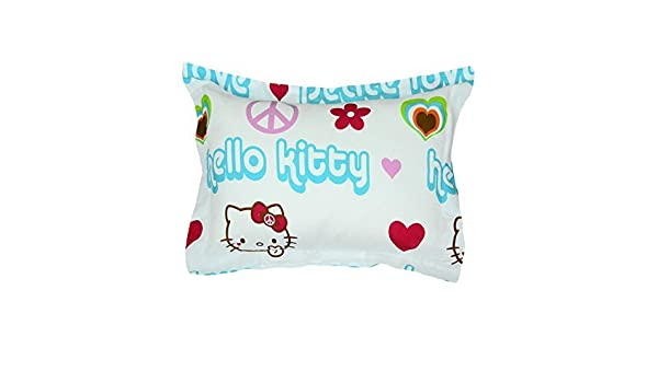 NEW Hello Kitty Pillow Case Sham Hearts Pink QTY 2 100/% POLYESTER