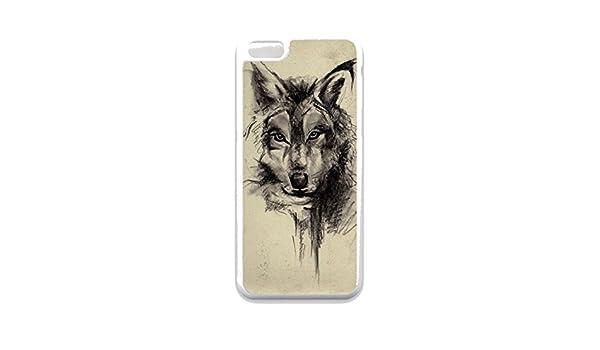 Funda para iPhone 5 C, diseño de lobo tatuajes Tumblr. I puede ...
