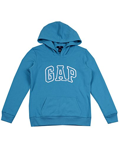 gap-womens-fleece-arch-logo-pullover-hoodie-s-teal