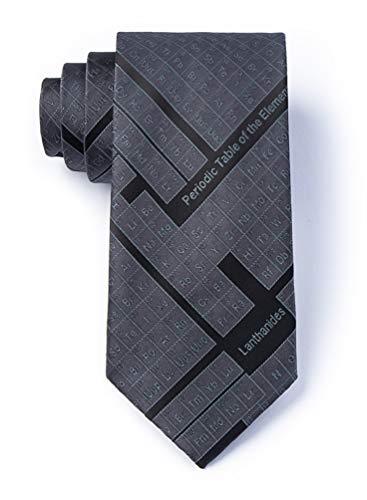 Periodic Table Black Microfiber Tie