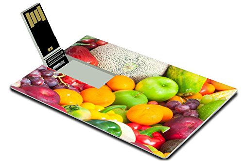 Luxlady 32GB USB Flash Drive 2.0 Memory Stick Credit Card Size IMAGE ID: 27419279 fruits and vegetables (Lemon Drop Tomato compare prices)