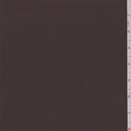 Chocolate Brown Microfiber Twill Peachskin, Fabric By the Yard (Brown Microfiber Fabric)