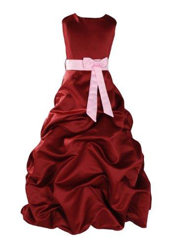 Cinda Burgundy Sash Dress Cinda Burgundy Bridesmaid Pink qpx77O