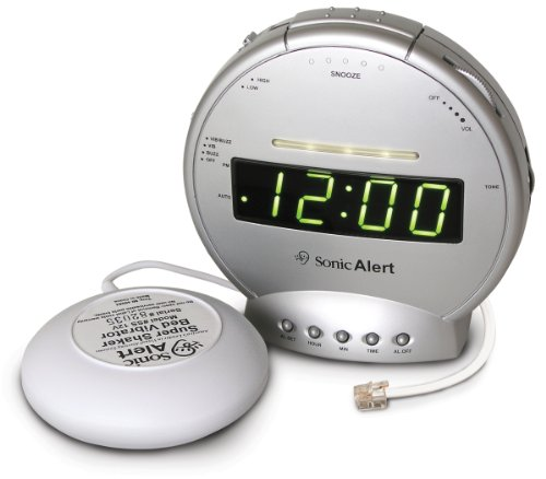 Sonic Alert Alarm Clock with Phone Signaler and Vibrator SA-SBT425SS